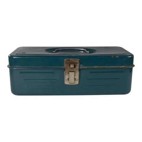 Vintage Metal Tackle Box, Green