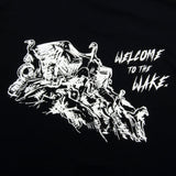 GOOD FISHING - Stage 3: Welcome to the Wake T-Shirt, Black / Glow In The Dark - Back Graphic Detail