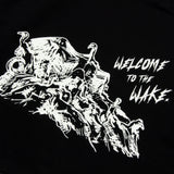 GOOD FISHING - Stage 3: Welcome to the Wake Tote Bag, Black / Glow In The Dark - Back Graphic Detail