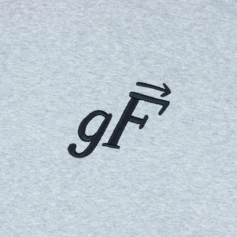 gF Logo Hoodie, Heather Grey