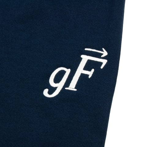 gF Logo Sweatpants, Navy / White