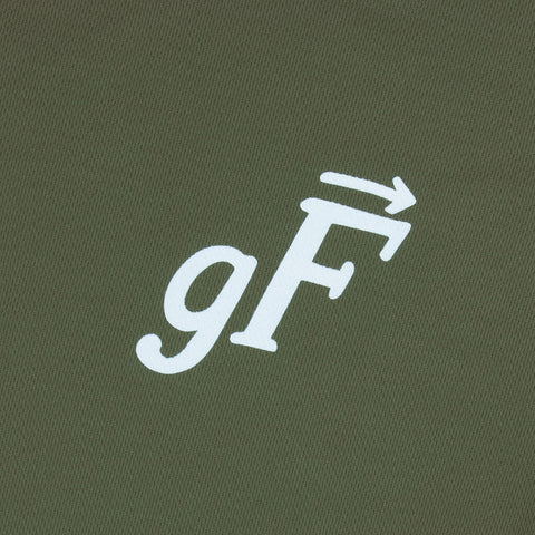 gF Logo Trail Shirt, Olive / White