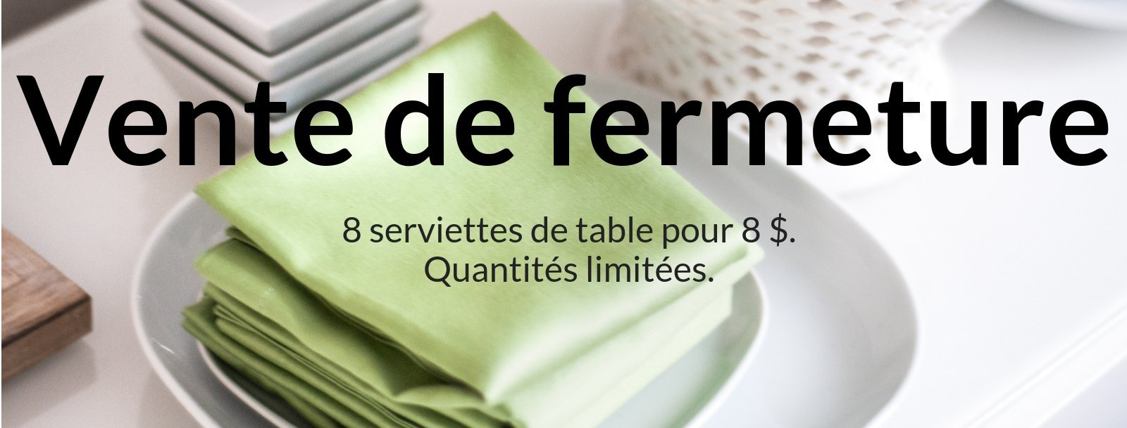 Napperons et serviettes de table