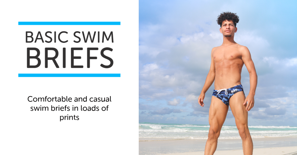 Comfortable and casual swim briefs in loads of prints.