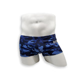 Box Cut Swim Trunk - Blue Dino Camo
