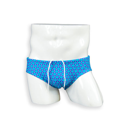 Contoured Front Swim Brief - Blue Coin