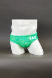 HAC Half Contour Swim Brief - Green Animal Print