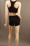 HAC Holmes Athletics Canada Black Emma Workout Short Back