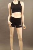 HAC Holmes Athletics Canada Black Emma Workout Short Front