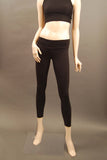 HAC Holmes Athletics Canada Black Emma Workout Tight Front