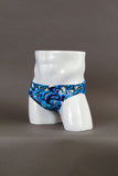 "HAC Swim Men's 2"" Side Swim Brief - Squiggle Front Right 45 Image"