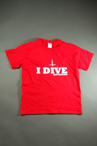 Red I Dive Graphic T-Shirt