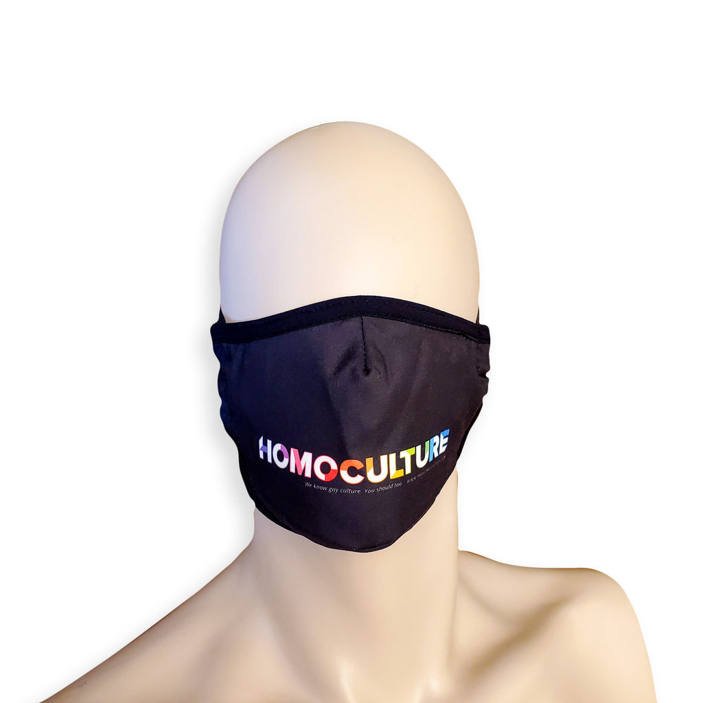HAC Swim Washable Fabric Face Mask Face Covering Homoculture Large Logo Print