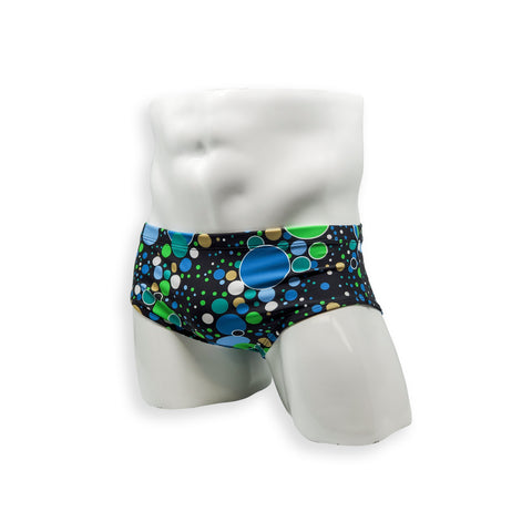 Vintage Cut Swim Brief - Modern Polka Dot