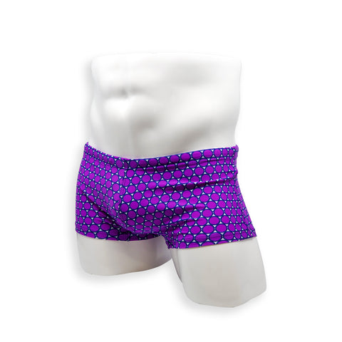 Box Cut Swim Trunk - Purple Coin