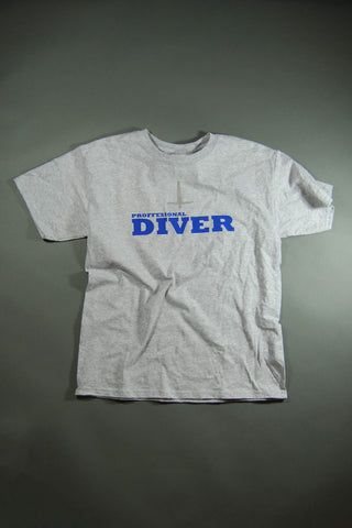Grey Professional Diver Graphic T-Shirt