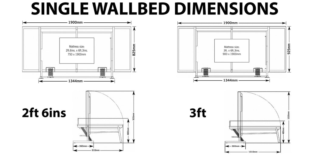 Wall bed, Wall beds, Wall beds UK, pull down bed, Fold away wall bed, vertical wall bed, horizontal wall bed, murphy bed, murphy beds, murphy beds uk, wall bed dimensions, wall bed sizes