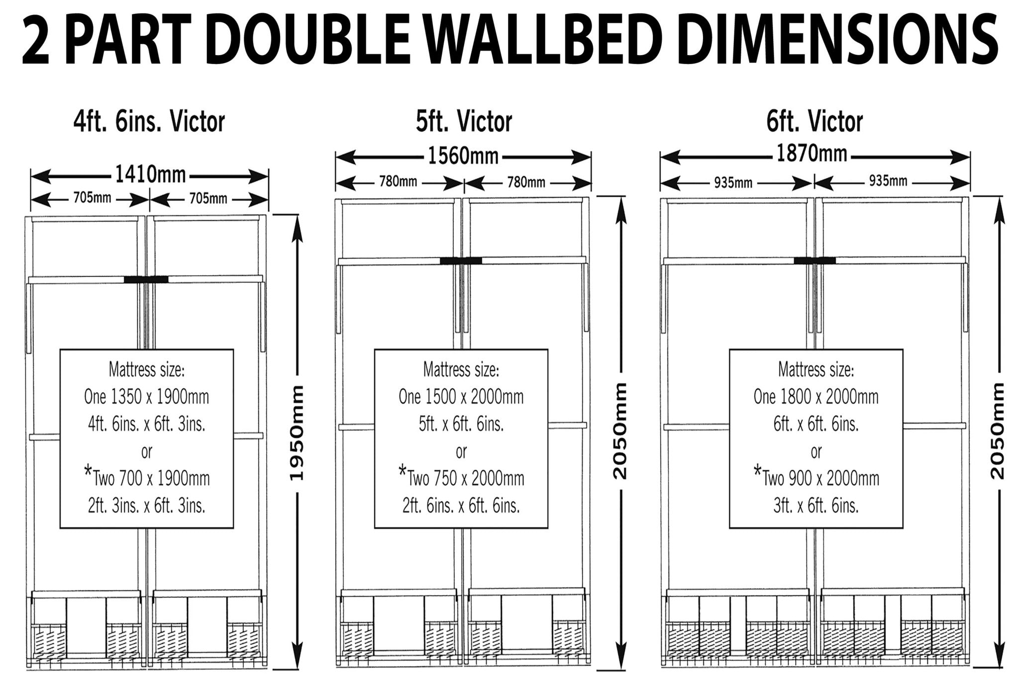 Single bed dimensions in mm - Click The Image Below To Enlarge Wall Bed Wall Beds Wall Beds Uk Pull Down Bed Fold Away