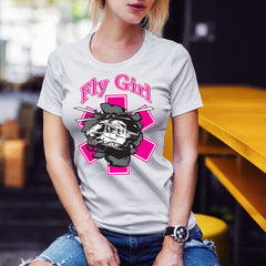 Fly Girl (Text and Image Helo Breakout) T-Shirt
