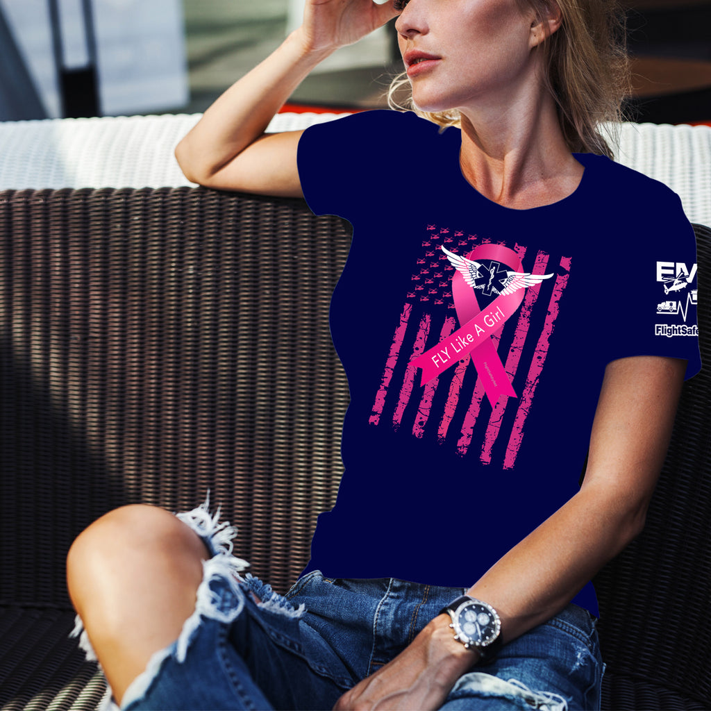 Fly-Like-A-Girl Breast Cancer Awareness Gildan Ultra Cotton Unisex T-Shirt