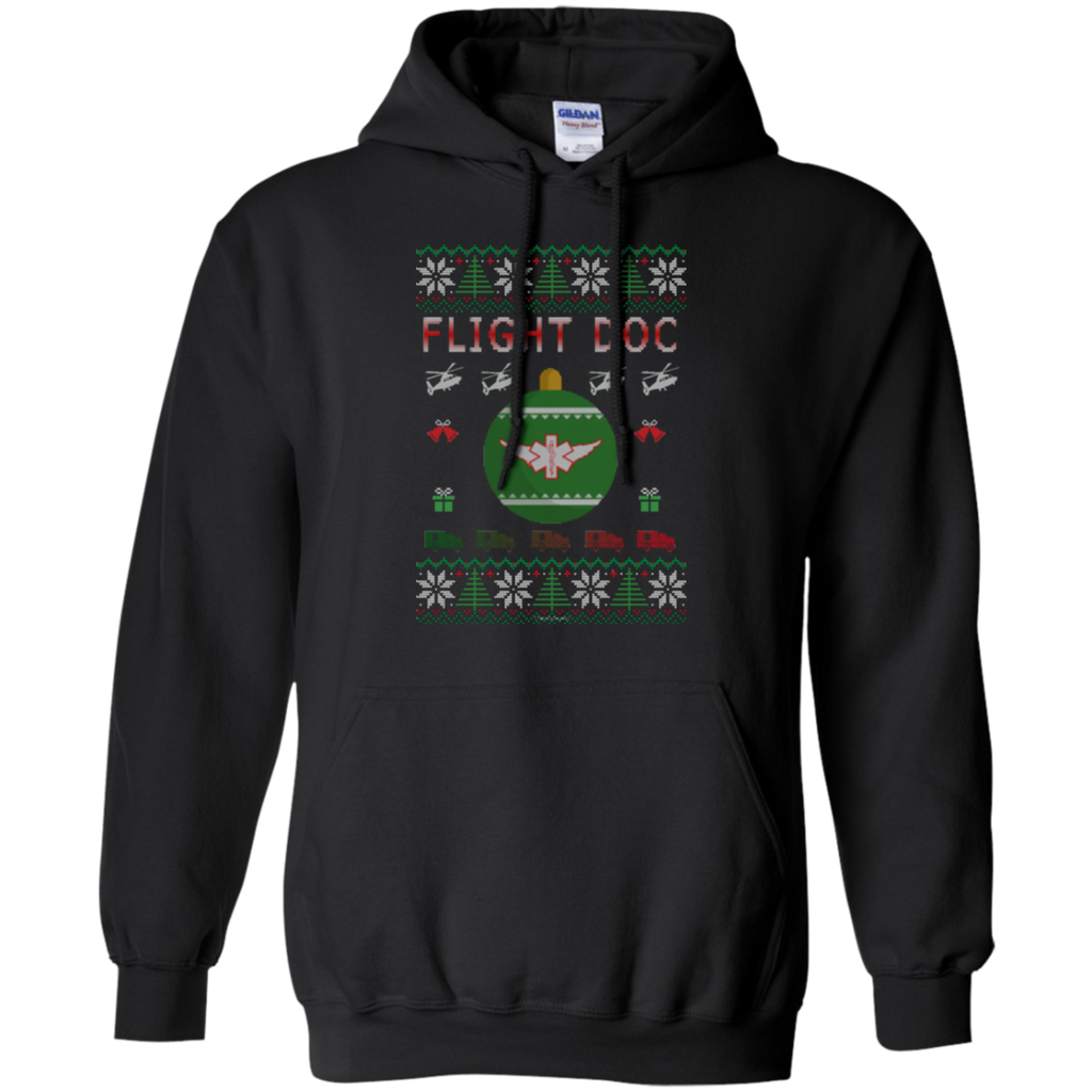 Flight Doc Ugly Sweater Gildan Pullover Hoodie 8 oz.