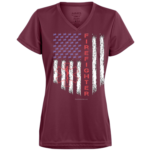 American Firefighter Pride Augusta Ladies' Wicking T-Shirt
