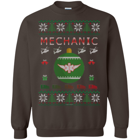 Mechanic Ugly Sweater Gildan Crewneck Pullover Sweatshirt  8 oz.