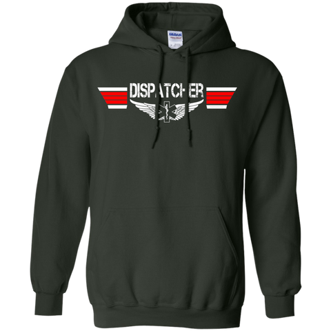 Dispatcher EMS Wings Heavyweight Pullover Hoodie 8 oz