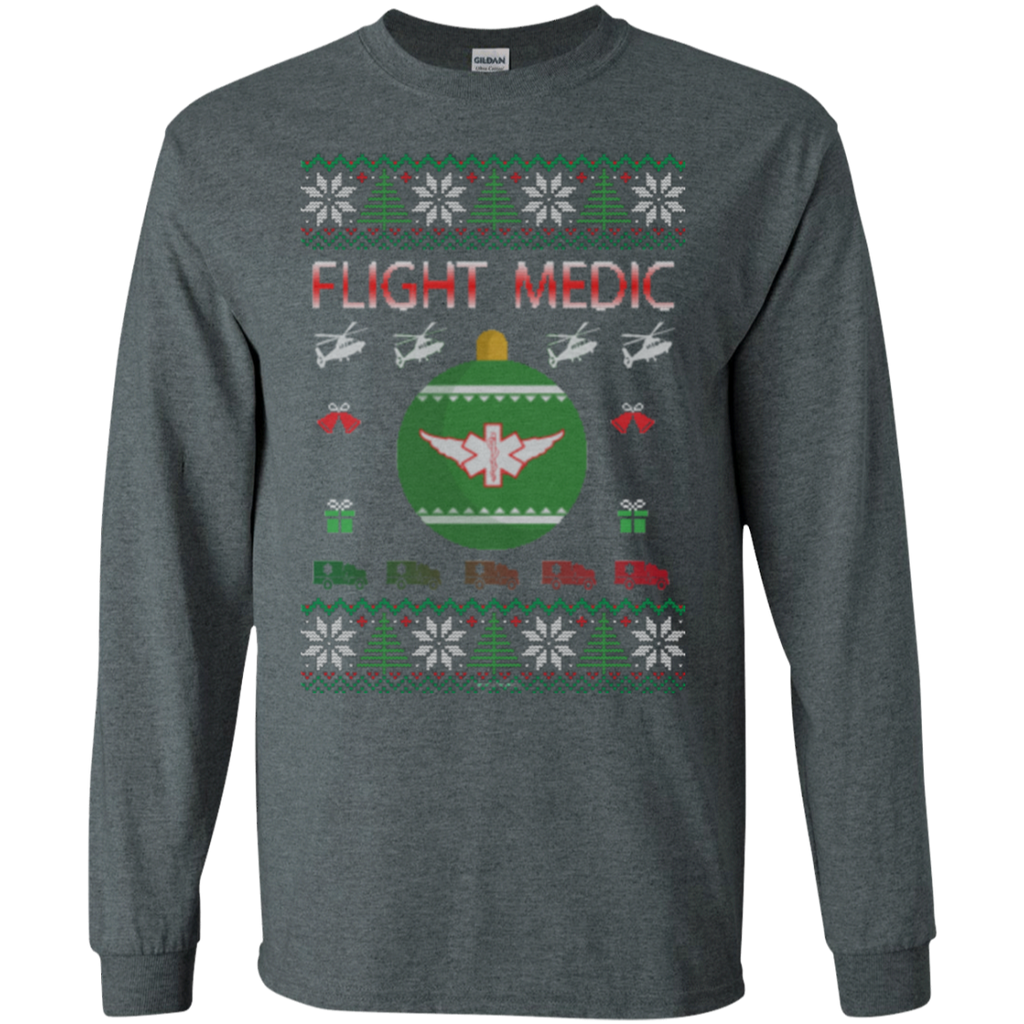 Flight Medic Ugly Sweater Gildan Unisex LS Ultra Cotton T-Shirt