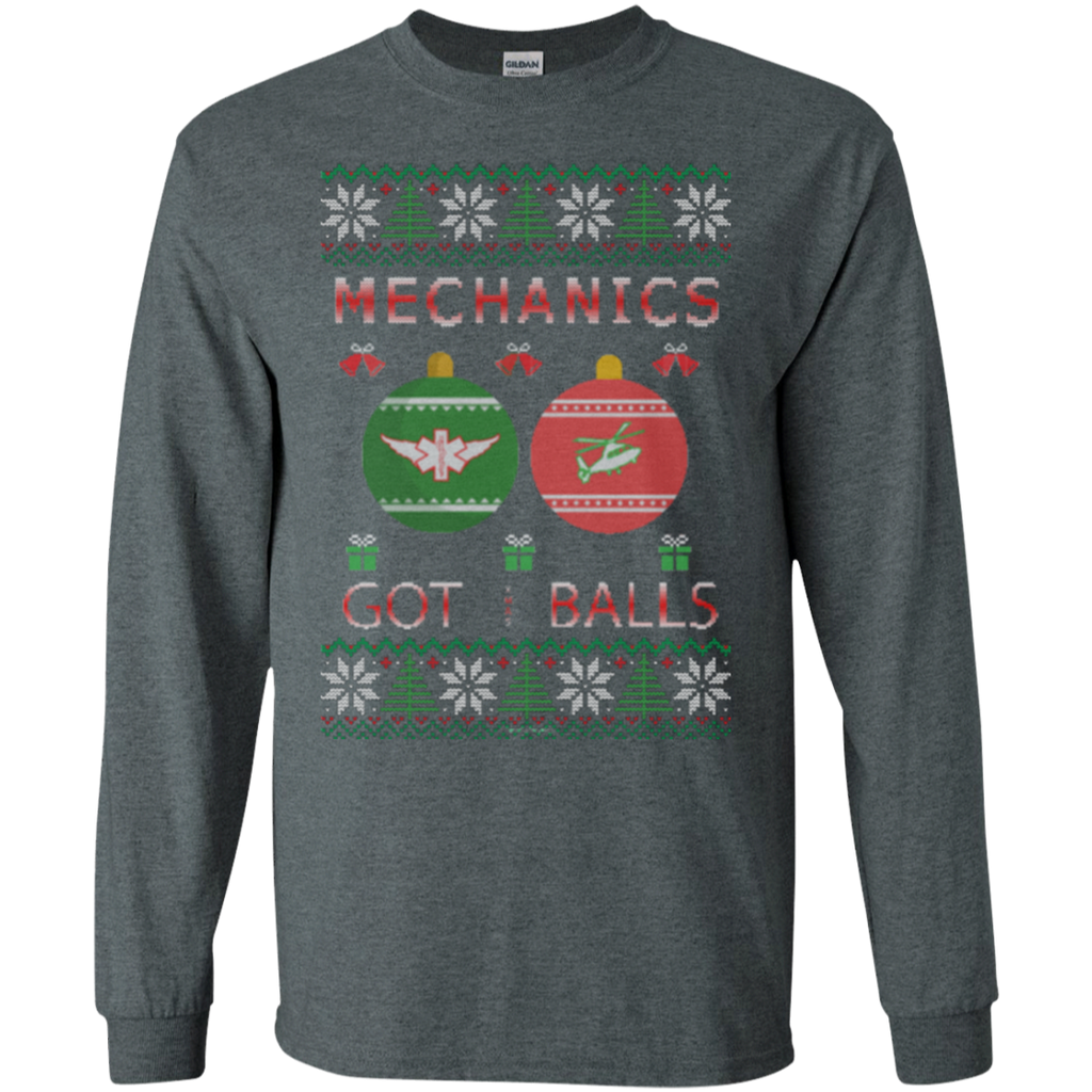 Mechanics Got Balls Ugly Sweater Gildan Unisex LS Ultra Cotton T-Shirt
