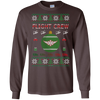 Image of Flight Crew Ugly Sweater Gildan Unisex LS Ultra Cotton T-Shirt