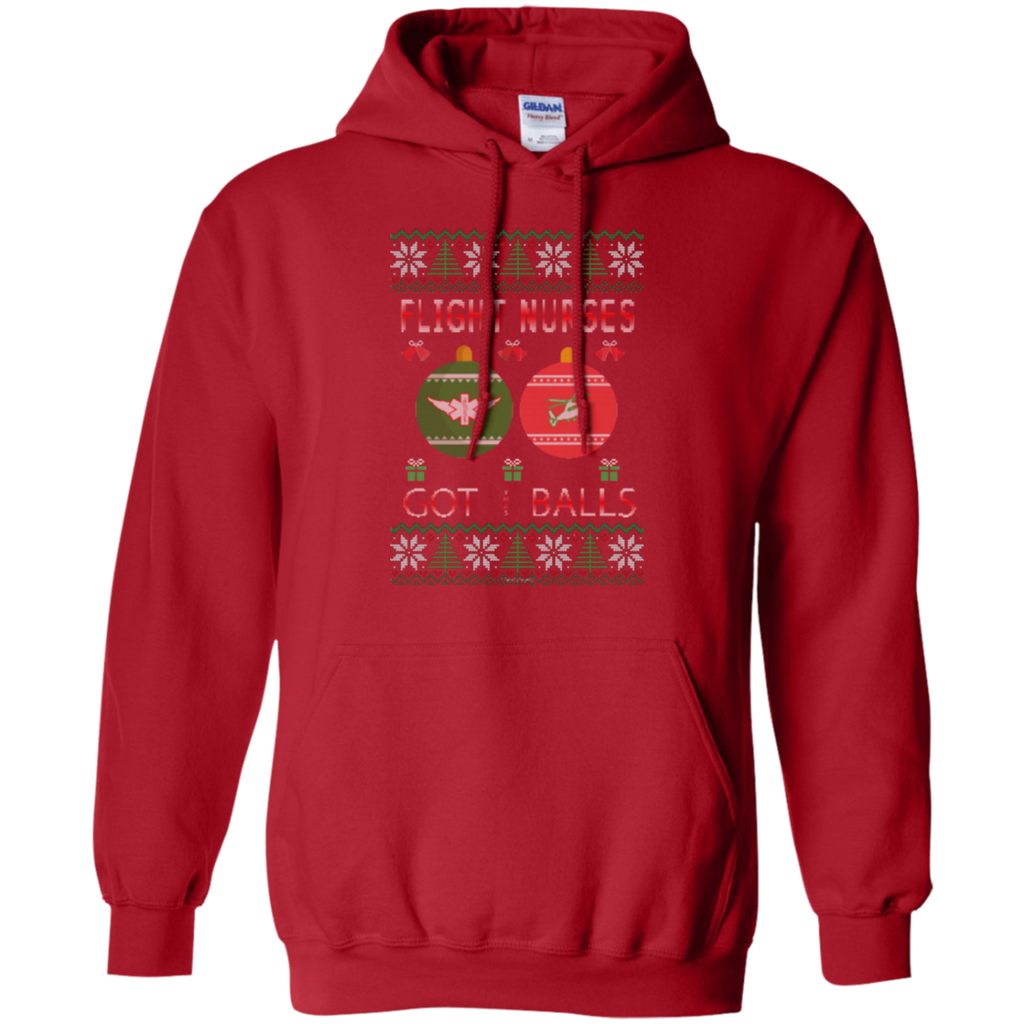 Flight Nurses Got Balls Ugly Sweater Gildan Pullover Hoodie 8 oz.
