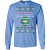 Image of Flight Nurse Ugly Sweater Gildan Unisex LS Ultra Cotton T-Shirt
