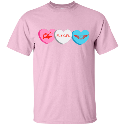 Fly Girl Candy Hearts Gildan Ultra Cotton Unisex T-Shirt