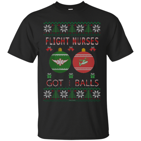 Flight Nurses Got Balls Ugly Sweater Gildan Unisex Ultra Cotton T-Shirt