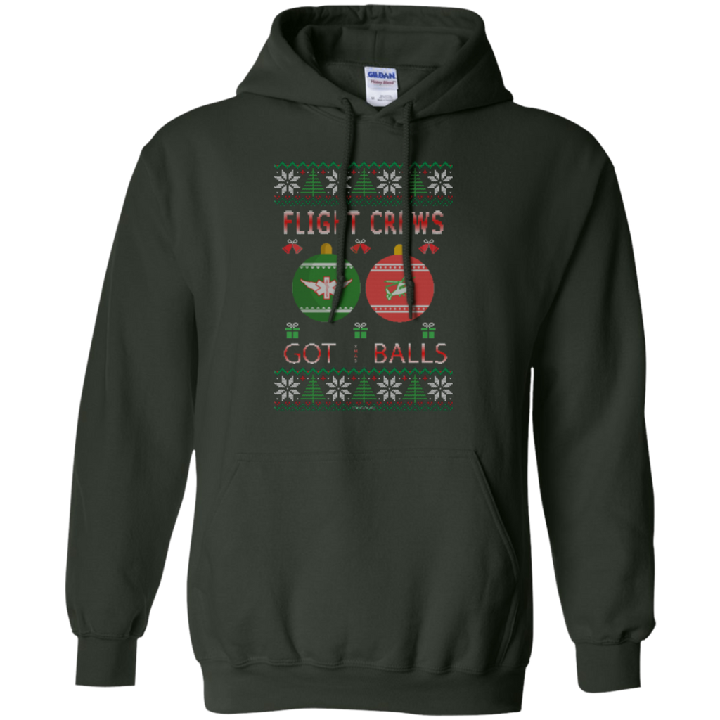 Flight Crews Got Balls Ugly Sweater Gildan Pullover Hoodie 8 oz.