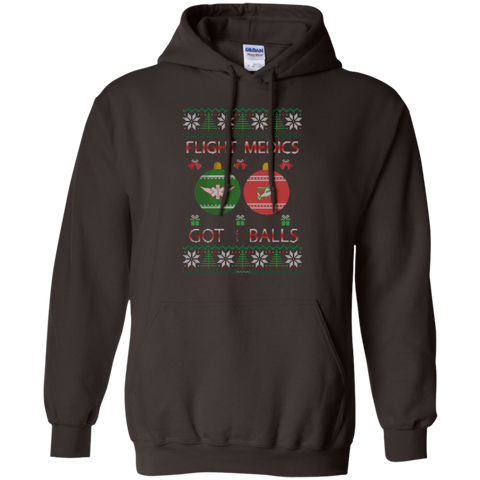 Flight Medics Got Balls Ugly Sweater Gildan Pullover Hoodie 8 oz.
