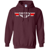 Image of EMS Flight Crew Wings Heavyweight Pullover Hoodie 8 oz