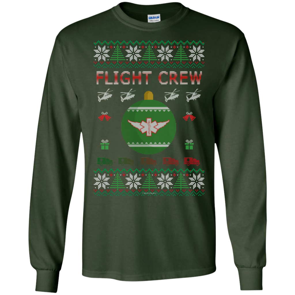 Flight Crew Ugly Sweater Gildan Unisex LS Ultra Cotton T-Shirt