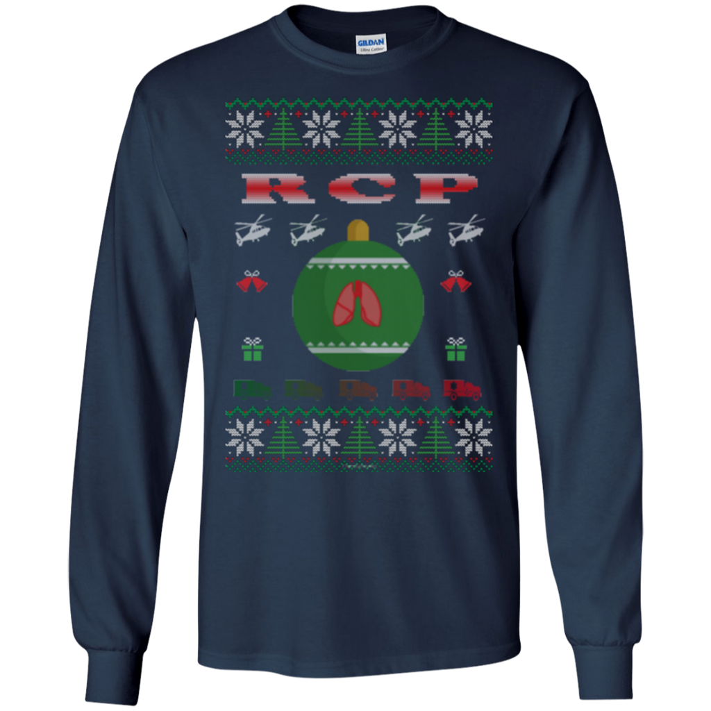 RCP Ugly Sweater Gildan Unisex LS Ultra Cotton T-Shirt