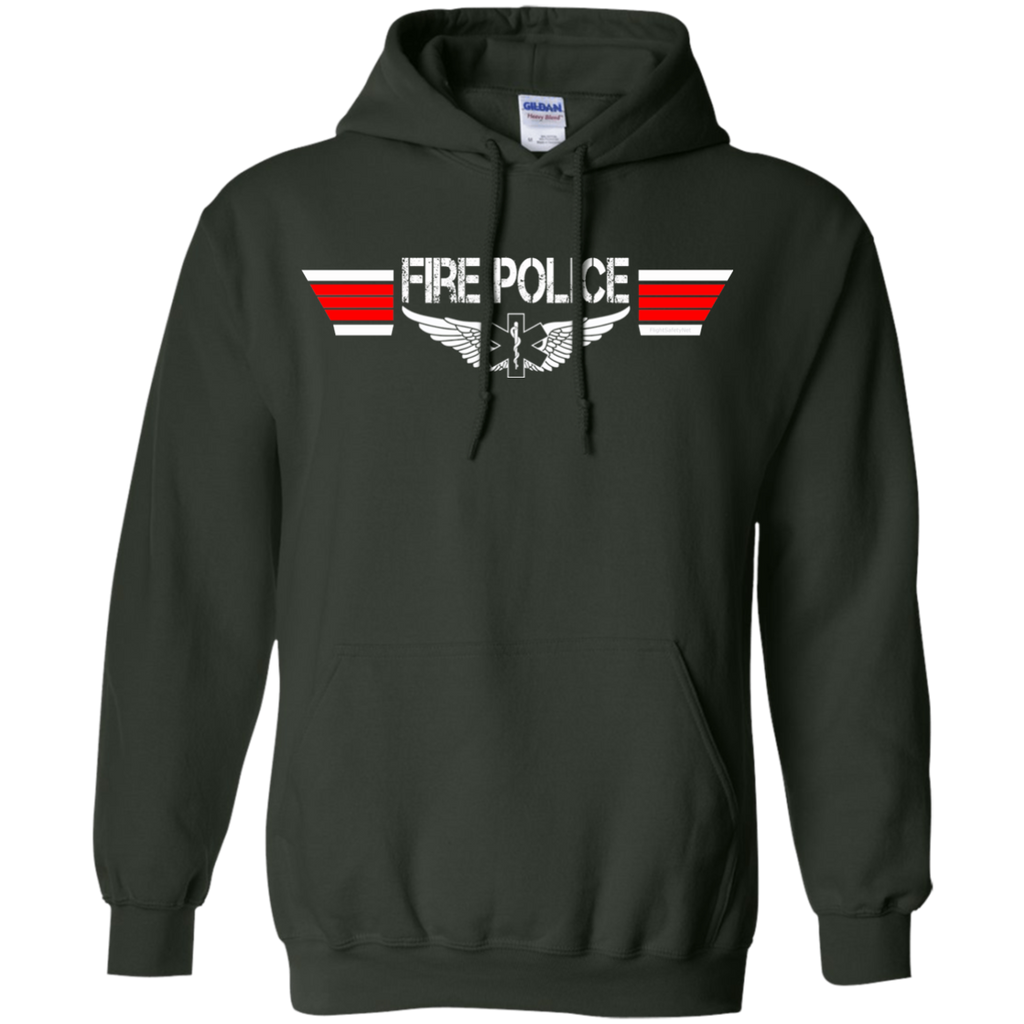 Fire Police Wings Heavyweight Pullover Hoodie 8 oz