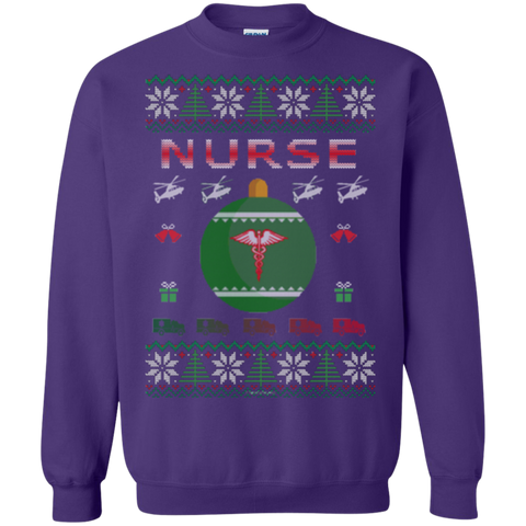Nurse Ugly Sweater Gildan Crewneck Pullover Sweatshirt  8 oz.