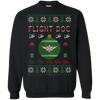 Image of Flight Doc Ugly Sweater Gildan Crewneck Pullover Sweatshirt  8 oz.