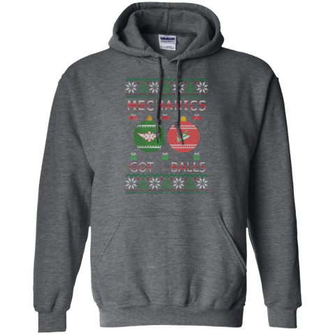 Mechanics Got Balls Ugly Sweater Gildan Pullover Hoodie 8 oz.