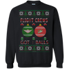 Image of Flight Crews Got Balls Ugly Sweater Gildan Crewneck Pullover Sweatshirt  8 oz.