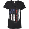 Image of American Firefighter Pride Anvil Ladies' V-Neck T-Shirt