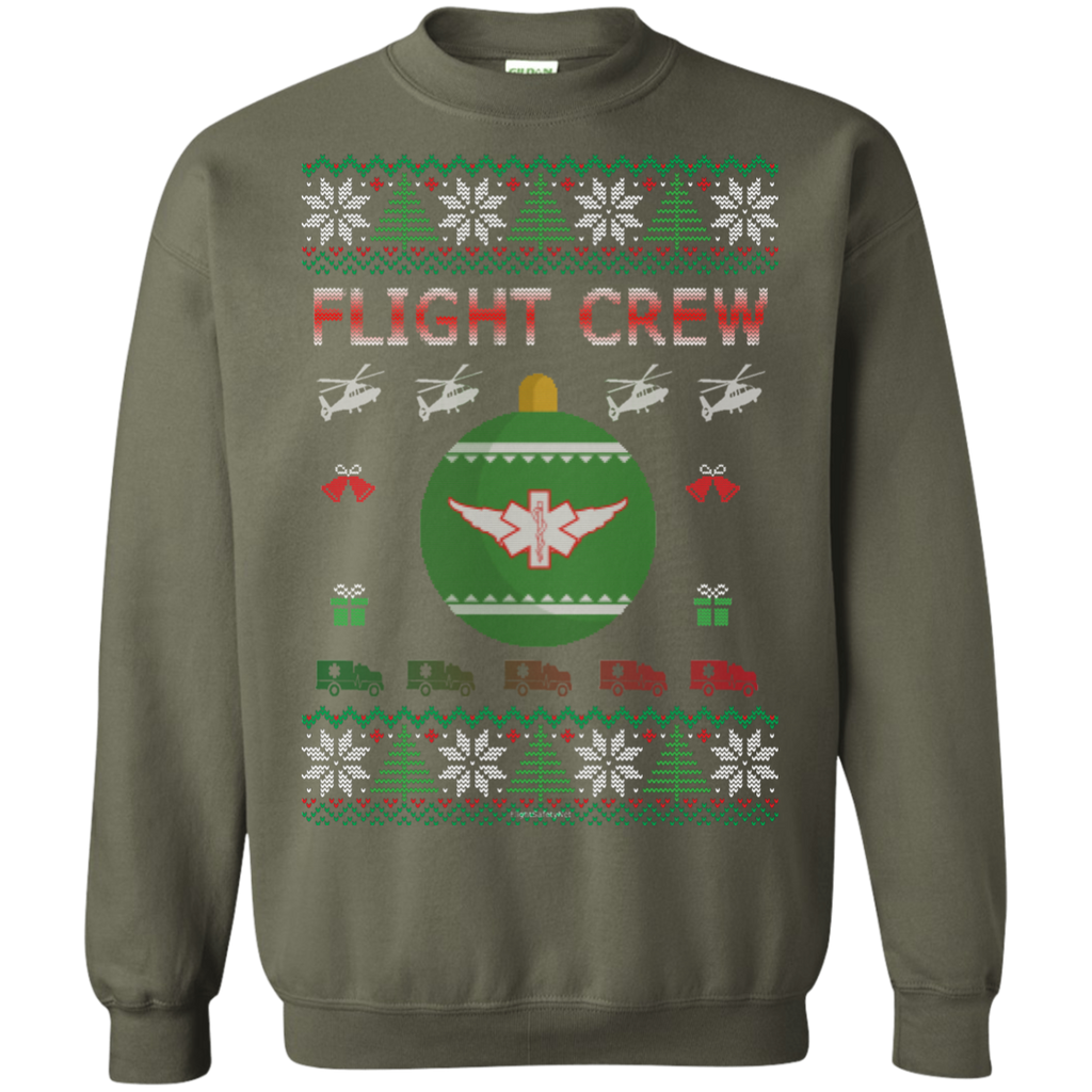 Flight Crew Ugly Sweater Gildan Crewneck Pullover Sweatshirt  8 oz.