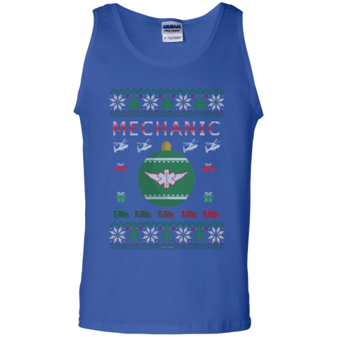 Mechanic Ugly Sweater Gildan Unisex 100% Cotton Tank Top