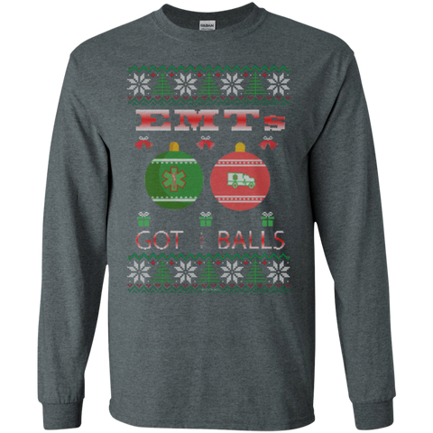 EMTs Got Balls Ugly Sweater Gildan Unisex LS Ultra Cotton T-Shirt