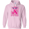 Image of Fly-Like-A-Girl Breast Cancer Awareness Gildan Pullover Hoodie 8 oz.